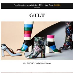 [Gilt] VALENTINO GARAVANI Shoes, M Missoni and More Start Now