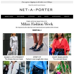 [NET-A-PORTER] Looks to love from Milan