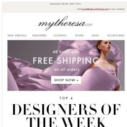 [mytheresa] This week's top designers + 48 hours free shipping