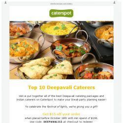 [CaterSpot] Deepavali party catering + new caterers PAUL, SPRMRKT, Grain Traders & Daily Cut!