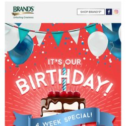 [Brand's] You're invited to our 11th BRAND'S® World Birthday Bash!