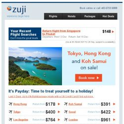 [Zuji] Yay, it's Payday: Tokyo and Hong Kong fr $178 (return).