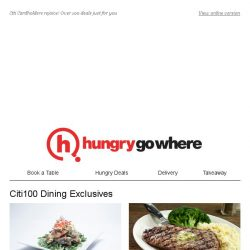 [HungryGoWhere] More dining promotions for Citi Cardholders like 50% Off 2nd Mains, 3rd Dines Free, 15% Off Total Bill & more!