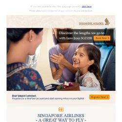 [Singapore Airlines] Experience our award winning services with fares starting on SGD208!