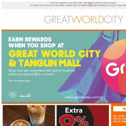 [Great World City]  October Specials at Great World City!