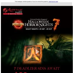 [Resorts World Sentosa] The ultimate horror experience starts today at Halloween Horror Nights™ 7.