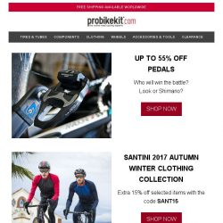 [probikekit] Up to 55% off Pedals   Extra 15% off Santini 2017 Autumn Winter Clothing