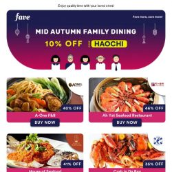 [Fave] Dine with your family this Mid-Autumn Festival ♥