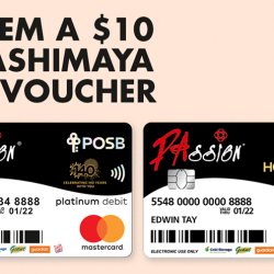Takashimaya: Shop with PAssion POSB Debit Card & Redeem a $10 Takashimaya Gift Voucher
