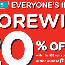 Watsons: Enjoy Storewide 20% OFF + Extra $5 OFF In Stores & Online!