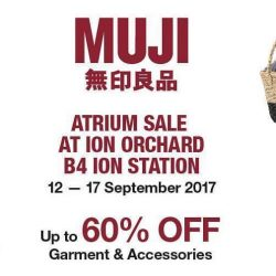 MUJI: ION Atrium Sale with Up to 60% OFF Garments & Accessories
