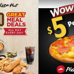 Pizza Hut: Great Meal Deals from Just $8.90 & Takeaway Pizzas from Only $5!