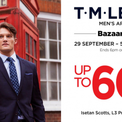 T. M. Lewin: Bazaar Sale with Up to 60% OFF at Isetan Scotts