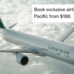 Cathay Pacific: Exclusive Airfares from $188 to Over 50 Destinations with Standard Chartered Cards