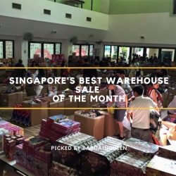 Singapore's Best Warehouse Sales of the Month (Nov 2018)