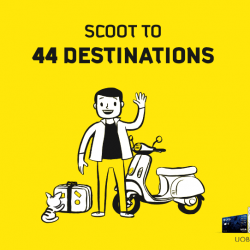 Scoot: Promo Code for Exclusive 20% OFF Fares to 44 Destinations with UOB Cards