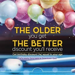 [Cue Guru] Get birthday discount based on your age on your actual birthday!