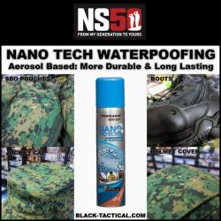 [Black-Tactical.com] Use your NS50 Vouchers and NANO Waterproof all your field equipment and be the cleanest and driest fella outfield!