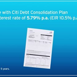 [Citibank ATM] Consolidate your outstanding credit card and personal loan debt with Citi Debt Consolidation Plan for a low interest rate of