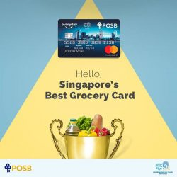 [POSB Autolobby] We're thrilled to announce that our POSB Everyday Card has won 'Best Grocery Card' in the herworldPLUS awards 2017!