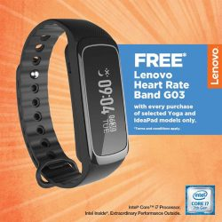 [Lenovo] Stay connected to everything and never miss a beat with the Lenovo Heart Rate Band G03.