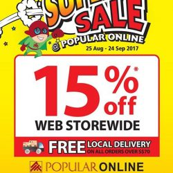 [POPULAR Bookstore] Last weekend to enjoy 15% off web storewide at the Super Sale @ POPULAR Online!