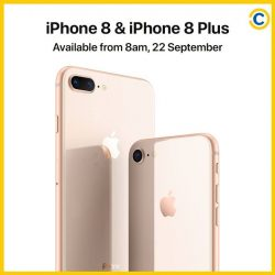 [Courts] iPhone 8 is coming to COURTS on 22 Sept 2017 at 8am.