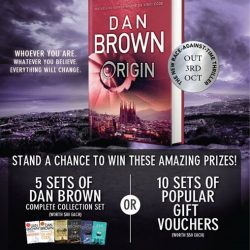 [POPULAR Bookstore] Enjoy 20% off your pre-order of 'Origin' by Dan Brown at any POPULAR store today!