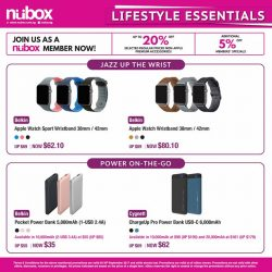 [Nübox] Upgrade your accessories and enjoy savings on our premium lifestyle essentials from Belkin, Cygnett, Erato, Klipsch, LifeProof, Speck, Tumi and