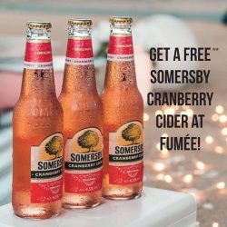 [fumee.deli.bar+cigar] Limited edition Somersby Cranberry available at Fumée from tomorrow!