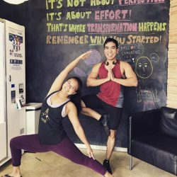 [Anytime Fitness] This is Jasmine and Magic 😍Both of them are amazing Yogis 🙂 Yoga is one of the many group class offerings