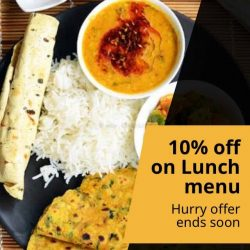 [ANJAPPAR] Get 10% off on lunchmenu.