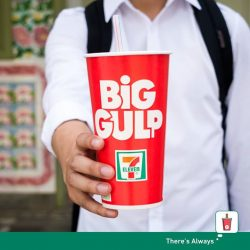 [7-Eleven Singapore] Reward yourself for studying hard with a Big Gulp, now only $1.