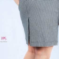 [Rose Of Sharon] Checked Double Ribbon DressS$95.