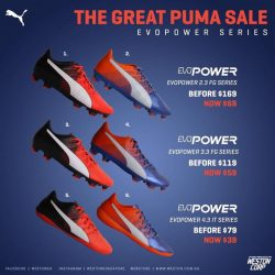 [WESTON CORP] The Great Puma Sale Starts Today (1st September) at Weston Stores And Online EvoSpeed Power 2nd ,3rd and 4th Grade