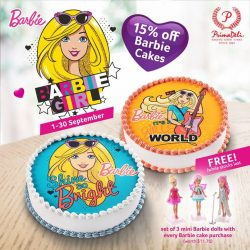 [PrimaDeli] This school holiday, give your kids (or your Barbie lovin' friends) a special treat with our Barbie Cake promotion!