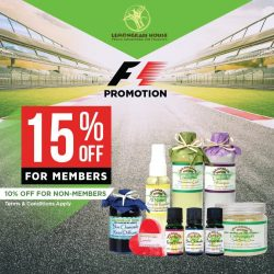 [Lemongrass House] Pit stop by our store to enjoy discounts in high spirits of this year's Singapore Grand Prix!
