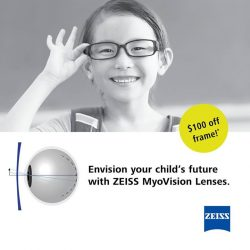 [Capitol Optical] Like & Share this post to enjoy $100 off on frame and receive a FREE box of ZEISS lens wipe.