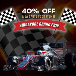 [Mad for Garlic] In conjunction with Singapore's Grand Prix, Mad for Garlic is offering a 40% Discount on our a la carte