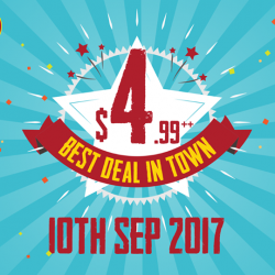 [The Manhattan FISH MARKET Singapore] The next and final round of Best Deal in Town will be on 10th Sep 2017!