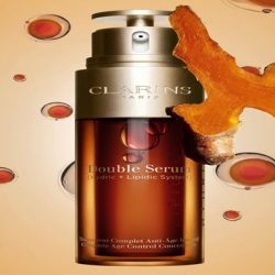 [Clarins] Turmeric extract is Double Serum's ⭐ ingredient.
