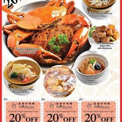 [Thai Village Restaurant] If you're dining at one of our restaurants this weekend, don't forget to use these 20% OFF Vouchers!