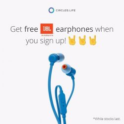 [JBL] Get a free pair of JBL earphones when you sign up for Circles.