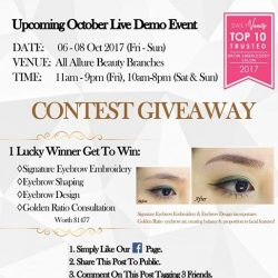 [Allure Beauty Saloon] In celebration of Allure Beauty's 15th Anniversary cum Live Demo Event on 6-8 Oct 2017 @ ALL Allure Beauty
