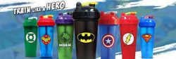 [The Box Societe] The Perfect Shaker allows your to rock your favorite super hero and blend your protein/pre workout drinks with zero