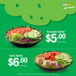 [Subway Singapore] We bring you 2 salad options.