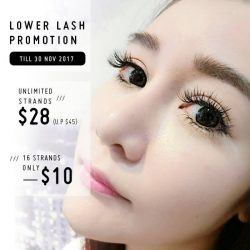 [Milly's] Up the game with lower lash extensions !