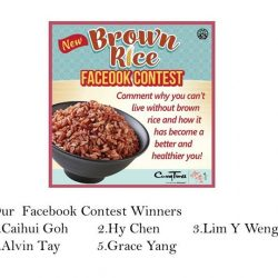 [Curry Times] Congratulations to all the Brown Rice Facebook Contest winners!