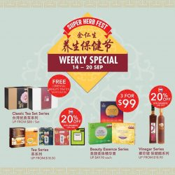 [Eu Yan Sang] The Super Herb Fest Weekly Special continues with super saving deals you cannot miss!