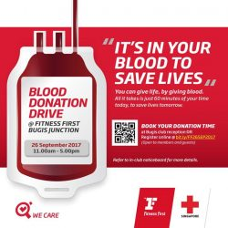 [Fitness First] REGISTER NOW: Do you know a single unit of blood can save up to 3 lives?